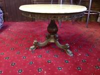 Onyx And Brass Table