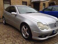 Silver , Mercedes 180 ( AMG KIT ), 2 doors coupe , Automatic, black leather interior,