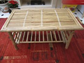 BAMBOO COFFEE TABLE FOR CONSERVATORY FURNITURE