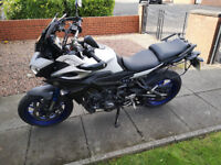 Yamaha MT09 Tracer '15 plate WITH GIVI soft luggage