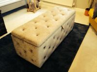 Ottoman Brown End of Bed Storage Box £55