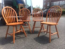 Set of 4 Pine Chairs