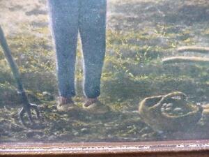 "Antique Print ""Evening Prayers"" Stratford Kitchener Area image 3"