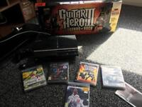 PlayStation 3 with Guitar Hero / Buzz Controllers and FIFA 18
