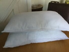 Pillows X 2, Scots of Stow, Clean but washable. £3 - To collect - Narborough, Leicestershire.