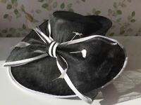 Linea ladies black and white occasion hat