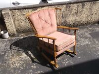 Vintage Ercol Style Rocking Chair For Sale