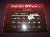 Rocktron MIDI Raider , MIDI Footcontroller Pedal for Guitar and Bass. / Brand New !