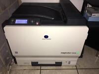 Konica Minolta Magicolor 7450 ii printer and 5 new genuine toners
