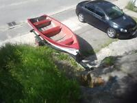 Boat and trailer. Good condition!