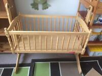 Wooden swing cot & mattress