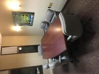 EUC 8 foot Boardroom Table and 8 chairs