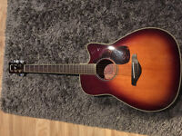 Yamaha FGX720SC Solid Top Brown Sunburst Acoustic-Electric Guitar