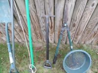 selections of garden tools