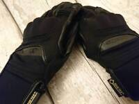 Alpinestars leather motorcycle gloves gore tex M