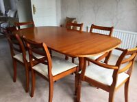 Mahogany dining table 6 chairs & sideboard