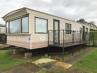Cracking cheap static caravan for sale with decking in great condition