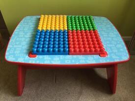 Wooden Mega Bloks table