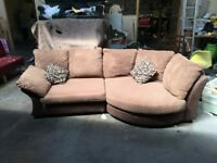 DFS Corner Sofa, cuddle chair and foot stool for sale