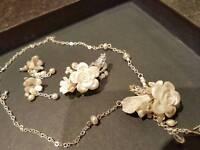 One of a kind handmade wedding jewellery set