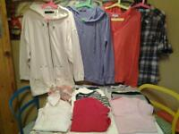 LADIES SIZE 16/18 .. 17 BLOUSES/JUMPERS/TSHIRTS/JACKET (12 NEW+UNWORN)