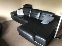 Italian leather corner sofa SOLD!!