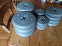 50kg York vinyl weight plates