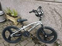 BMX Bike with two helmets