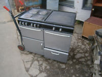 RANGE COOKER STOVES NEWHOME ELECTRIC RANGE COOKER BLACK & SILVER IN YEOVIL