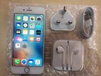 IPHONE 6 SILVER - VISIT MY SHOP. - UNLOCKED - 16 GB/ GRADE B - WARRANTY + RECEIPT