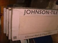 £30 only for lovely wall tiles from JOHNSON TILES,21 Large tiles (4.2sqm) 600mm x 300mm 8mm