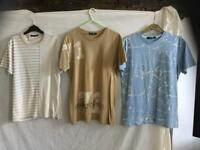 3 designer t-shirts
