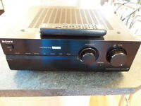 Sony TA FB940R intgrated amplifier with remote control in black.