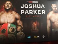 Anthony Joshua v Joseph Parker - 2 x Floor Seats, seated together (Face Value)