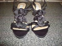 Black Shoes size 4 and Matching Bag