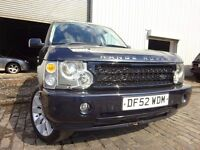 52 LAND ROVER RANGE ROVER 2.9 DIESEL,MOT MARCH 017,PART HISTORY,DVDS IN REAR HEAD DRESS,PLAY-STATION