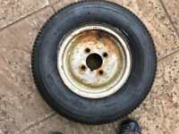 Trailer wheel and tyre 500-10c £30 ono