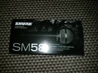 Brand new shure sm 58 mic in box used twice Inc zip bag and cable (xlr to xlr) available as well