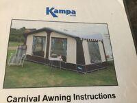Kampa 21 ft 'Carnival' awning