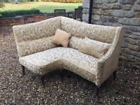 corner sofa vintage antique rare an butiful newly upuolsterd original horse hair filing