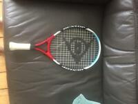 Dunlop tennis racket and bag