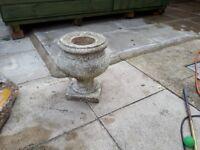 Concrete garden pot, parasol base