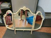 Shabby Chic 3 peice vanity mirror