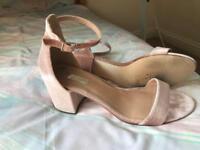 Size 7 blush sandals