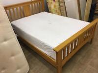 Double wooden bed with good mattress