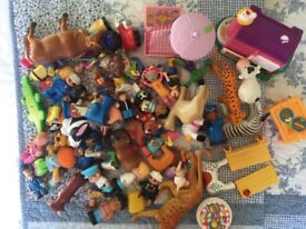 Assorted little people and animal figures