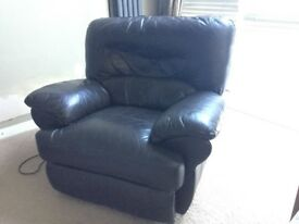 Armchair -Brown Leather with Remote Control