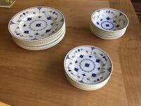 Blue and White Denmark pattern Dinner Set