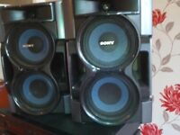 sony MCH twin bass driver speakers