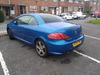 Peugeot 307 convertible for sale spares or repairs